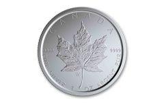 2020-W Canada $5 1-oz Silver Burnished Maple Leaf BU