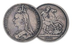 1887–1892 Great Britain Silver Crown Queen Victoria Jubilee VF