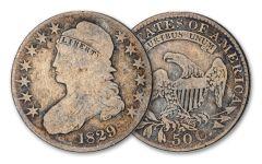 1807-1839 50 CENT BUST LIBERTY VG-FINE