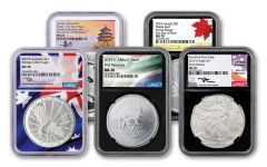 5pc 2019 SILVER WEDGE/ASE/MAP/PAN/KRUG NGC 70