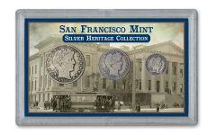 1892-1915-S 10C-50C SAN FRANCISCO HERITAGE COLLCTN