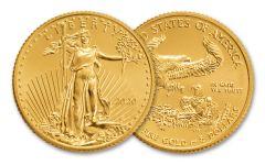 2020 $5 1/10-oz Gold American Eagle BU