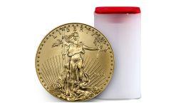 2020 $50 1-oz Gold American Eagle BU 20-Piece Roll