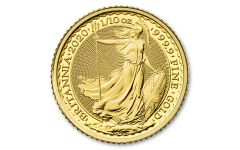 2020 Great Britain £10 1/10th-oz Gold Britannia BU