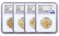 2019-S $1 American Innovation 4-pc Proof Set NGC Gem Proof Early Releases