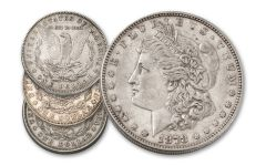 1878-P Morgan Silver Dollar Tail Feathers 3-Coin Set XF
