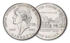 1993-P $1 JEFFERSON COMMEMORATIVE BU