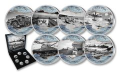 Cold Enamel Collection: D-Day 7-pc Uncirculated Set