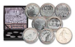Cold Enamel Collection: End of World War II 7-pc Uncirculated Set