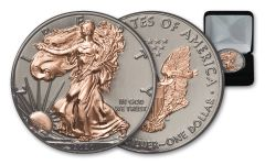 2020 $1 1-oz Silver American Eagle BU w/Black Ruthenium & Rose Gold