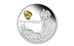 2020 Australia $1 1-oz Silver Wedding Proof