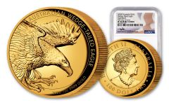 2020 Australia $100 1-oz Gold Wedge Tailed Eagle High Relief Proof NGC PF70UC First Day of Issue w/Mercanti Signature