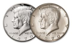 2PC 1970-D-1970-S 50 CENT KENNEDY BU-PROOF SET