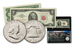 1963 50C - $2 FRANKLIN-PAPER NOTE END OF ERA SET