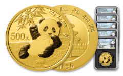 5PC CHINA 2020 GLD PANDA NGCMS70 FR SHANG LINA BC