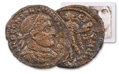 AD 307–337 Ancient Roman Bronze Nummus of Constantine The Great Sol Invictus NGC VF
