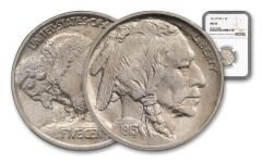 1913-P 5 CENT BUFFALO NICKEL TYPE I NGC/PCGS MS65