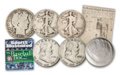 "1914–2014 ""Rookie Card"" Home Run Half Dollar Collection w/Book"