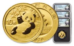 3PC CHINA 2020 GLD PANDA NGCMS70 FR SHG SONG BC