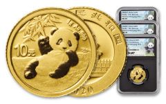 3PC CHINA 2020 GLD PANDA NGCMS70 FR SHY SONG BC