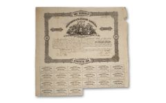 1861 $100 Confederate Bond w/Coupons