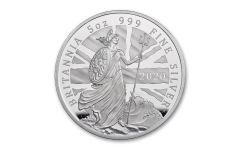 2020 Great Britain £10 5-oz Silver Britannia Proof