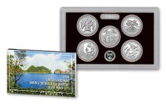 2020-S America The Beautiful 5-Piece Quarters Silver Proof Set