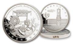 CHINA 2020 50G SILVER BERLIN SHOW PANDA PROOF
