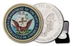 2020 $1 1-oz Silver American Eagle U.S. Armed Forces Navy Colorized Edition