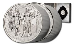 2019 10-oz Silver Allegories — Columbia & Germania Gem BU