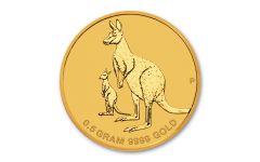 AUS 2020 $2 1/2-GRAM GOLD MINI KANGAROO BU