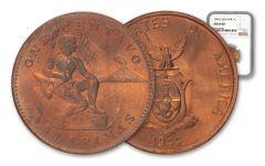 1944-S Philippines Bronze Centavo USA NGC MS64 RD