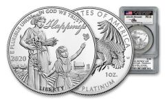 2020 $100 1OZ PLATINUM EAGLE PCGS PR70FDI MERCANTI