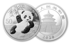 CHINA 2020 150G SILVER PANDA PROOF