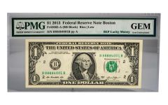 "2013 Series $1 ""Lucky 8888"" Federal Reserve Note PMG Gem Uncirculated"