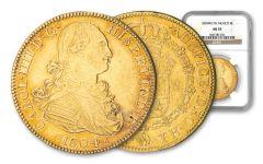 MEXICO 1804-MO GOLD 8 ESCUDOS NGC AU55
