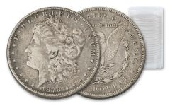1878–1921 Morgan Silver Dollar 20-Coin Roll VG-VF
