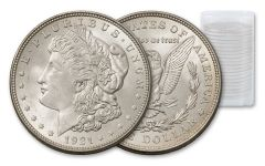1878–1921 Morgan Silver Dollar 20-Coin Roll AU-BU