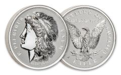 2020 Smithsonian 2-oz Silver Morgan's Gold Eagle Ultra High Relief Piedfort Reverse Proof