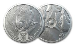 SA 2020 1OZ SILVER BIG 5 RHINO BU W/CARD