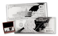 2020 $100 4-OZ SILVER FRANKLIN CURRENCY PROOF