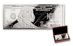 2020 $100 1-oz Silver Franklin Currency Proof