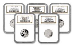 1999-S State Quarters Clad Proof 5-pc Set NGC PF69UC