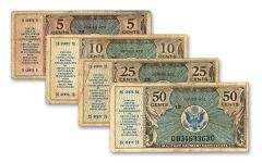 1948–1951 5 Cents–50 Cents Series 472 MPC 4-Note Set F-VF