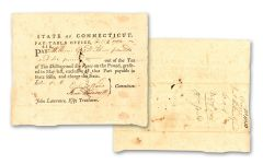1780's STATE OF CONNECTICUT PROMIS NOTE HUNTINGTON