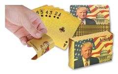 24kt Gold Foil Donald Trump Playing Cards