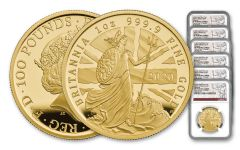 6PC GB 2020 GOLD BRITANNIA SET NGC PF70UC FS