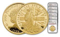 6PC GB 2020 GOLD BRITANNIA SET NGC PF69UC FS