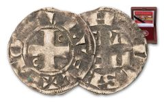1180–1223 France Silver Denier of Philip II
