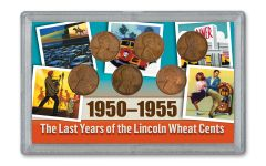 1950–1955-S Lincoln Wheatback Cent 6-pc Set XF
